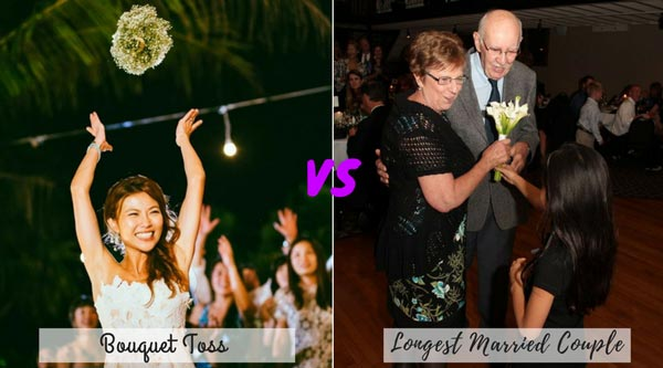 Bouquet Toss vs Gift for Longest Married Couple | New Wedding Traditions to Replace Old Wedding Traditions