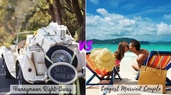 Honeymoon right after wedding vs waiting for Honeymoon   New Wedding Traditions to Replace Old Wedding Traditions