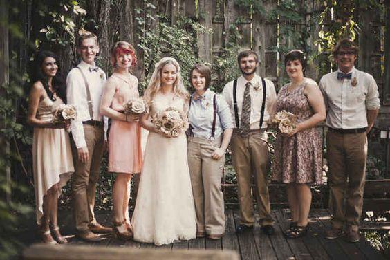 Mixed Gender Wedding Parties  | Same-Sex Wedding in Las Vegas | LGBTQ Wedding Ideas