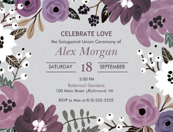 Sologamy Wedding Ideas | Wedding Invitations