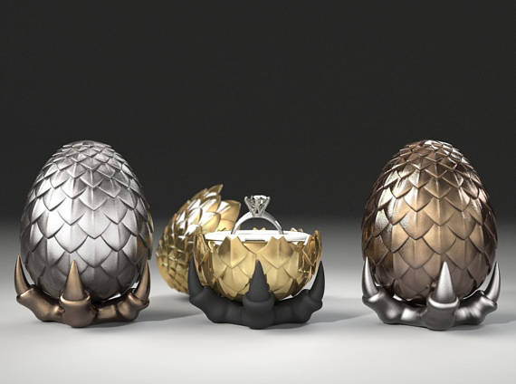 Dragon Egg Ring Box | Game of Thrones Wedding Ideas