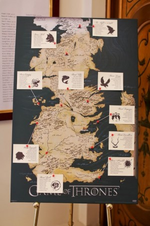 Seven Kingdom Seating Chart   Game of Thrones Wedding Ideas