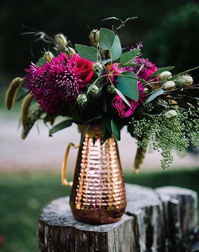 Fall Weddings | Wedding Ideas | Copper Wedding Decor