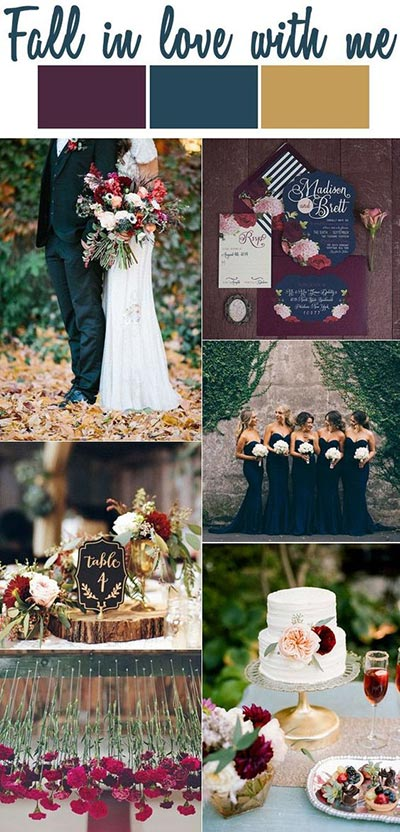Best 10 fall wedding ideas deep tones for fall wedding color scheme junglespirit Gallery