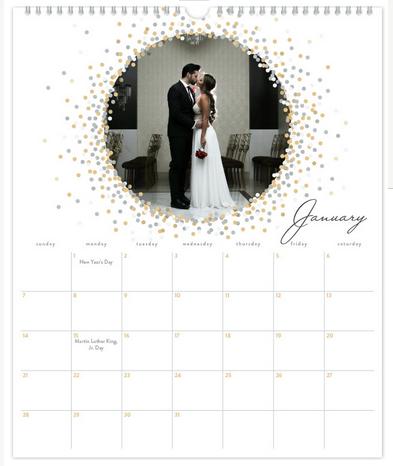 Custom Calendar | Wedding Photo Gifts and Keepsake Ideas