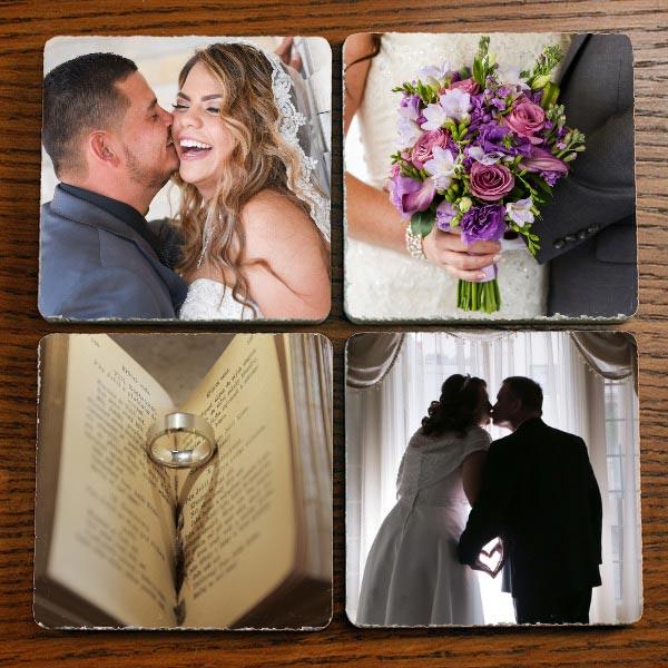 Custom Coasters with Photos | Wedding Photo Gifts and Keepsake Ideas
