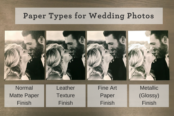 Photo Paper Types | Wedding Photo Gifts and Keepsake Ideas