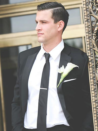 Great Gatsby Wedding Ideas | 1920's Men Hairstyle for Grooms