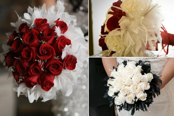 Great Gatsby Wedding Ideas Img 12 Gatsby Bridal Bouquet Feathers