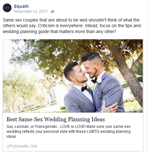 Equalli Same-Sex Wedding Ideas Blog Post