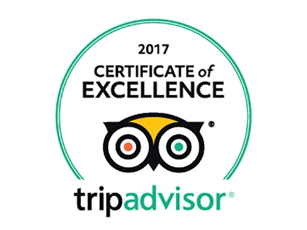 TripAdvisor Certificate of Excellence Award 2017