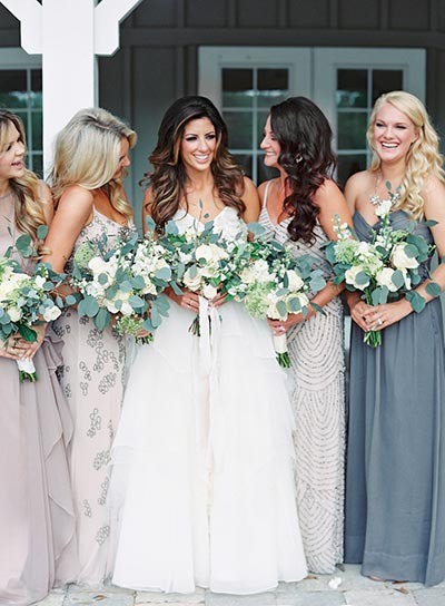 Mix and Match Bridesmaids Dresses | 2018 Wedding Trends