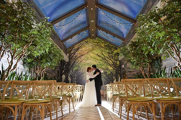 Indoor Garden Wedding Venue | Woodland Weddings | 2018 Wedding Trends