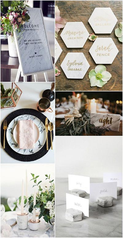 Marble Wedding Decor | 2018 Wedding Trends