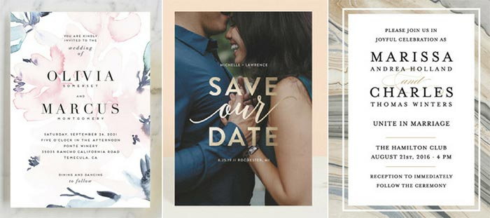 2018 Wedding Invitations and Save the Dates | 2018 Wedding Trends