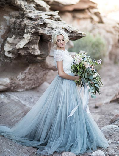 Blue Wedding Dress | Wedding Dress Ideas | 2018 Wedding Trends