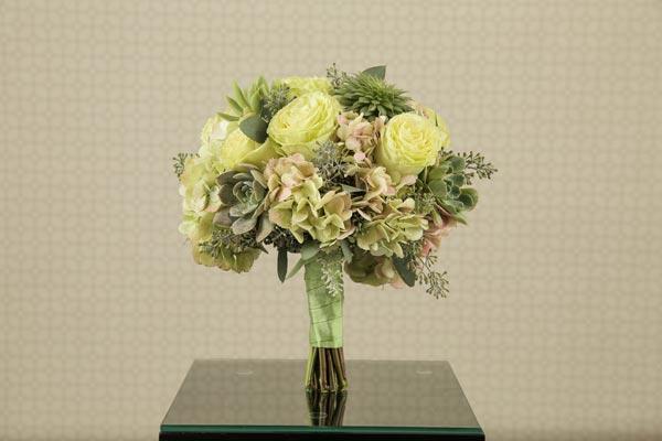 Wedding Flower Ideas   Bridal Bouquet Ideas   Green Succulent Bouquet