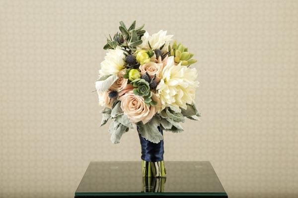 Wedding Flower Ideas   Bridal Bouquet Ideas   Dahlia Succulent Bouquet