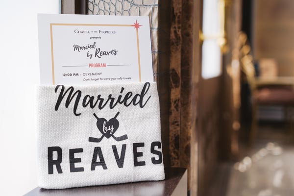 Ryan Reaves Wedding Vegas Golden Knights Chapel Of The
