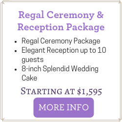 Affordable Las Vegas Wedding Package includes Ceremony and Reception for up to 10 guests